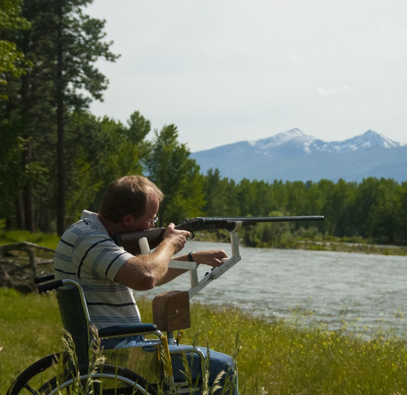 Big Sky Imagination Rifle Rest for Wheelchairs
